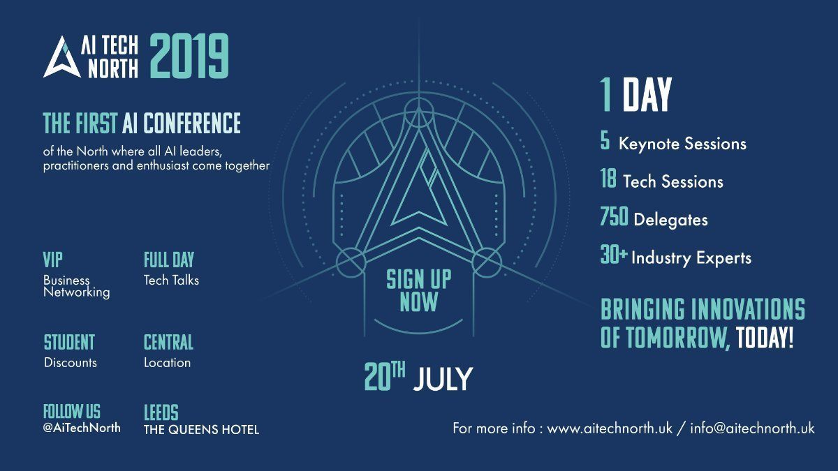 AI Tech North Conference 2019 – July 2019